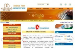 Official Website for Income Tax Return Filing